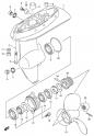 Картер коробки передач (Gear Case) (модели DF4, DF5 2002-2003 года выпуска)