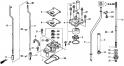 Водяной насос / вертикальный вал (1) (Water Pump + Vertical Shaft) F-4