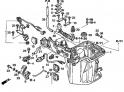 Маслянный кожух / Вал механизма переключения (Oil Case + Oil Pan Gasket) F-8-10