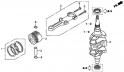 Коленчатый вал / Поршень (Crankshaft / Piston) E-7