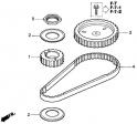 Ремень распредвала (Triming Belt) E13 HONDA BF20 D3 SHU