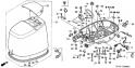Крышка двигателя / нижний кожух (Cover Engine / Lower Case) F-8