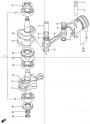 Коленчатый вал и поршень (Crankshaft+Piston)