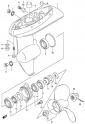Картер коробки передач (Gear Case) (модели DF4, DF5, DF6 2004-2009 года)