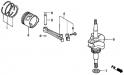 Коленвал и поршень (Crankshaft / Piston) E7