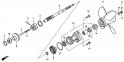 Вал гребного винта / гребной винт (Propeller Shaft + Propeller) F-5